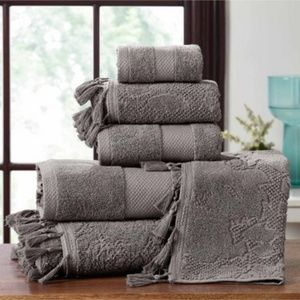 **Nordstrom Jacquard Tassels Towel 6-Piece Set NWT